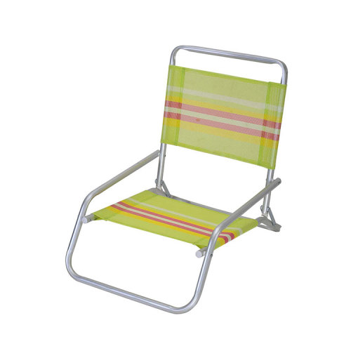 Relaxed Back Low Seat Beach Folding Sand Chair-Cloudyoutdoor
