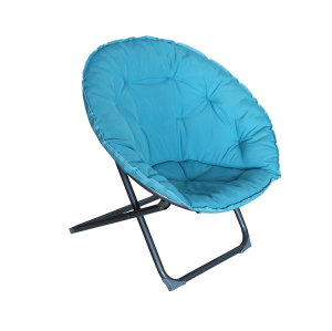 Folding Moon Chair Padded Comfor Lounge Bedroom Garden Furniture Seat-Cloudyoutdoor