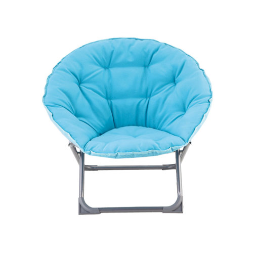 Folding Moon Chair Padded Comfor Lounge Bedroom Garden Furniture Seat-Cloudyoutdoor