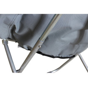 Outdoor Camp Moon Saucer Leisure Heavy Duty Steel Padded Seat-Cloudyoutdoor