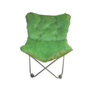 Yellow Large Adult Camping Half Moon Chair Lazy Chair-Cloudyoutdoor
