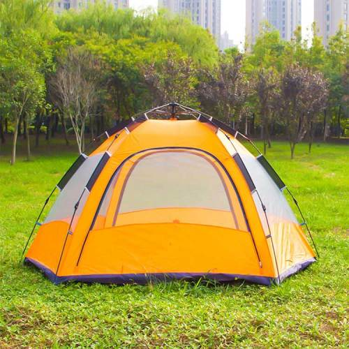 7-8 person double layer 2 doors 6 angles press spring 3 fold automatic tents for sale