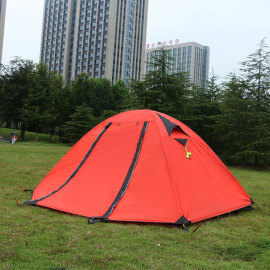 Custom logo double layer 4 season tent 2 person camping easy up tents