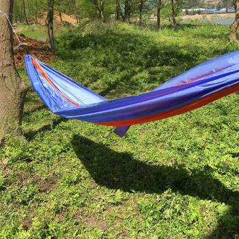 China factory good quality nylon fabric hammocks outdoor camping