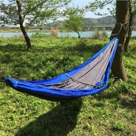 Newest design multi-ues portable waterproof camping nylon hammock with tree strap