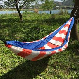 Portable Lightweight stripe design hammock swings outdoor camping hammock