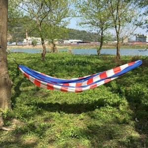 Portable Lightweight stripe design hammock swings outdoor camping hammock