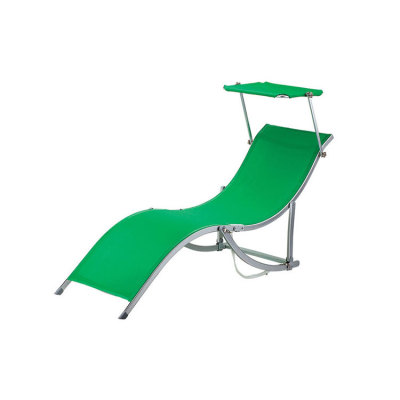 Outdoor Leisure Garden Furniture Foldable Pool Lounger Lounge Steel Beach Chair Bed -Cloudyoutdoor