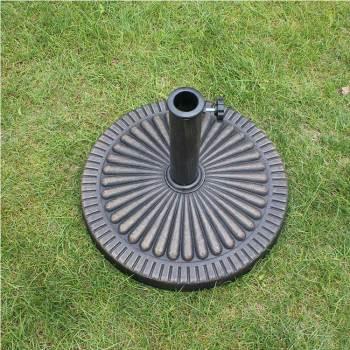 Metal heavy duty patio outdoor plastic resin umbrella base black