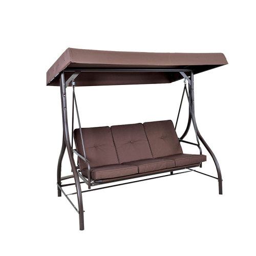 Weather-resistant 3 Seat Patio Swings Hanging Swing Chair Bed for Patio-Cloudyoutdoor