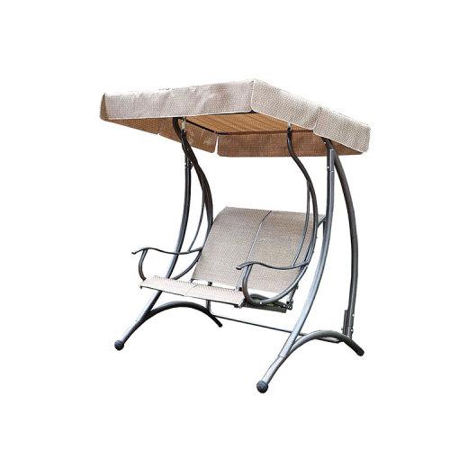 2 Seater Steel Double Patio Swing Chair for Outdoor Garden-Clouyoutdoor