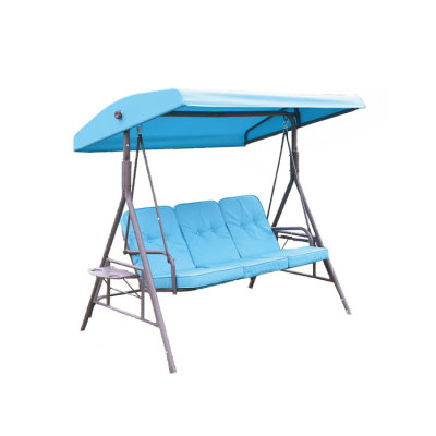 Leisure Blule Outdoor Durable 3 Seats Garden Swing Chaire Canopy-Cloudyoutdoor
