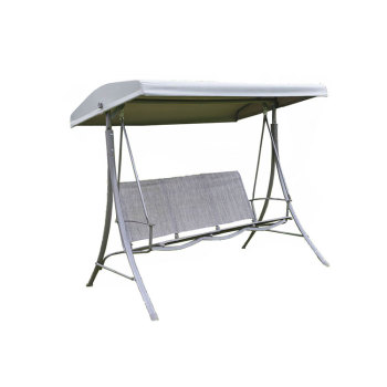 High quality 3 seater steel leisure outdoor garden bench seat swing chair