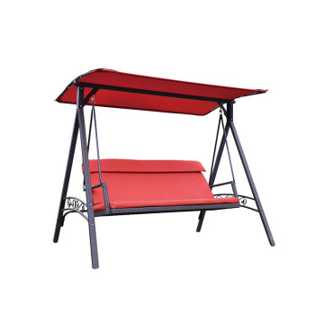 Hot selling balcony outdoor patio garden metal streel seat swing chair
