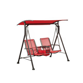 Steel Garden 2 Seater Swing Chair Outdoor Furniture with Table-Cloudyoutdoor