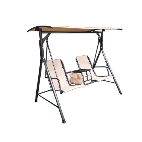 Steel Garden 2 Seater Swing Chair Outdoor Furniture with Table-Cloudyoutdoor