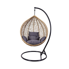 China wholesale custom waterproof garden hanging chair rattan swing