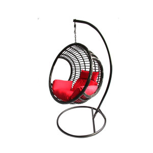 Outdoor furniture beautiful vintage rattan wicker hanging chair with stand