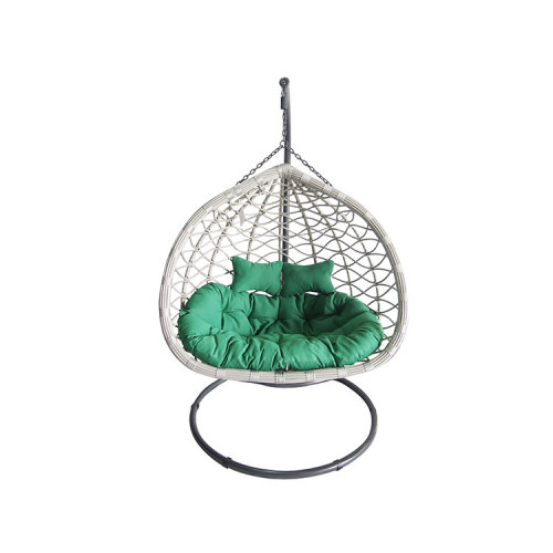 Hot selling balcony outdoor rattan wicker egg shaped hanging chair