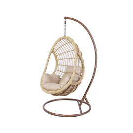 Custom modern outdoor furniture metal hanging egg chair outdoor 1 set