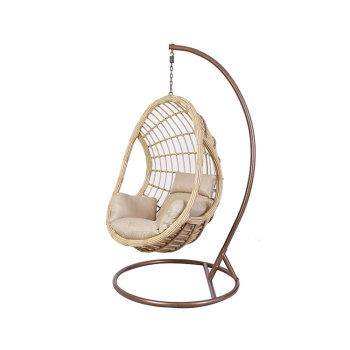 Custom modern outdoor furniture metal hanging egg chair outdoor 1 set