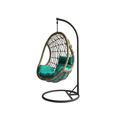 Factory price high quality outdoor patio garden egg hanging chair with stand