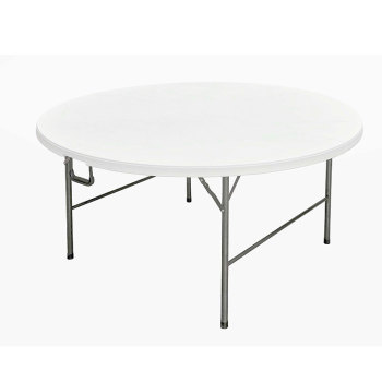 China supplier Wholesale Portable hdpe plastic round folding table