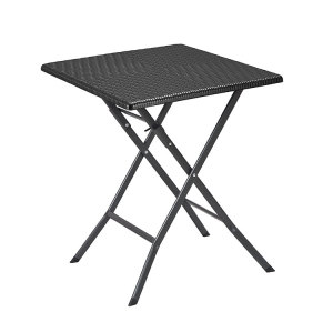 Cheap hdpe blow molding rattan design 1 HDPE table and 2 chairs