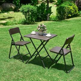 Indoor/Outdoor HDPE plastic folding table and chairs