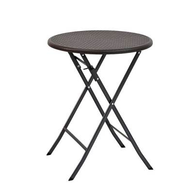 Popular outdoor folding round shape hdpe plastic chair and tables