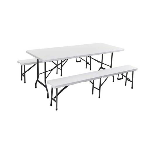 Good quality cheap price outdoor plastic hdpe folding square table chair set