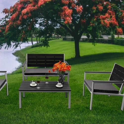 4 in 1 Garden sofa hdpe table cheap for garden party/picnic
