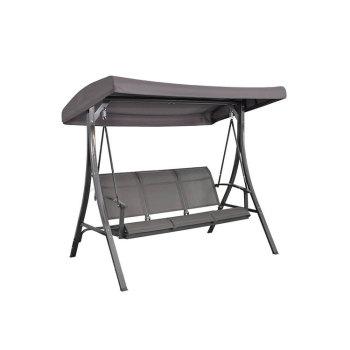 Hot sale outdoor 3 seats textiline garden swing chair for balcony