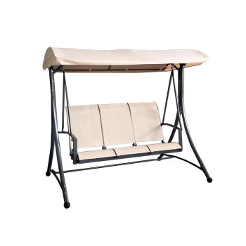 Outdoor furniture general use 3 seater metal garden swing chair