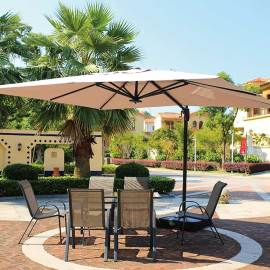 Garden patio parasol aluminum luxury  resort advertising sun beach umbrella outdoor