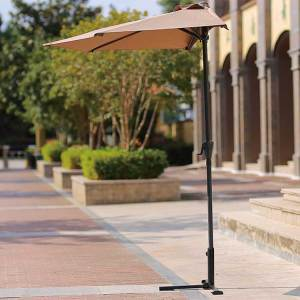 Promotional hotel resort outdoor parasols foldable custom outdoor parasol vintage