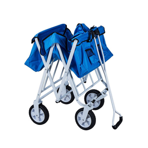 Single Layer D-shaped Handle Collapsible Outdoor Folding Wagon-Cloudyoutdoor