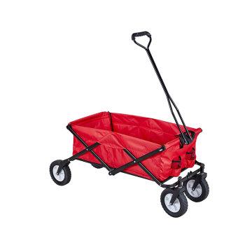 Heavy duty wheel garden big wheels collapsable outdoor folding utility wagon