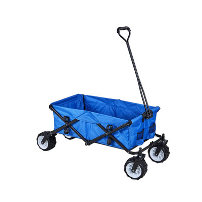D-shaped Handle Garden Camping Outdoor Beach Folding Wagon-Cloudyoutdoor