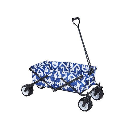 D-shaped Handle Garden Camping Outdoor Beach Folding Wagon-Cloudyoutdoor