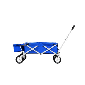 Double layer 600D fabric D shaped handle outdoor folding beach wagon with extra bag