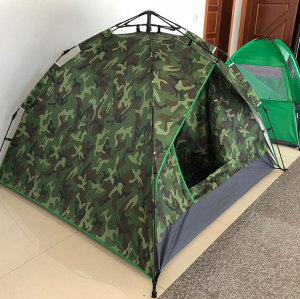 Camo color 3-4 person 2 doors double layers tents for events party
