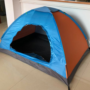 High quality easy set up folding 1 door tent blue promotional tent