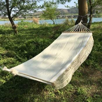 2020 portable camping hammock swings canvas hammock with stick