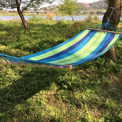 Outdoor hanging custom kids tree hammock swings with wooden Stick