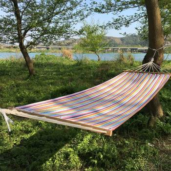 Outdoor beach camping canvas macrame foldable child hanging seat swing hammock