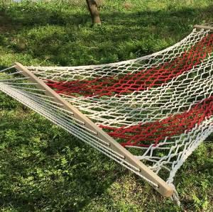 Travel camping hiking trip outdoor/indoor lightweight rope net hammock