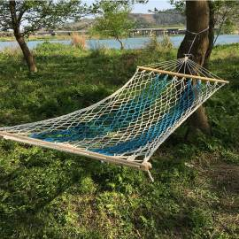 Lightweight foldable sleep camping cotton rope hammock swing chair