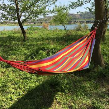 50% cotton 50%polyester colorful outdoor garden yard hammocks