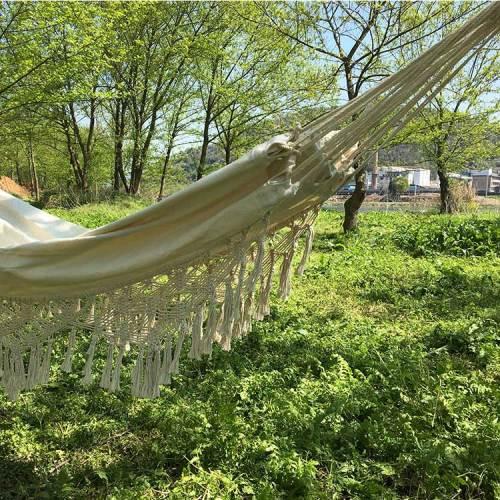 Outdoor garden hammock swing chair hanging camping